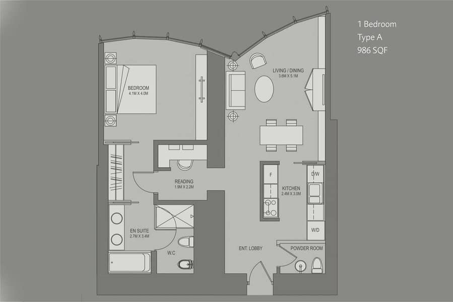 20 Lowest Price 1BR+Reading Opera View