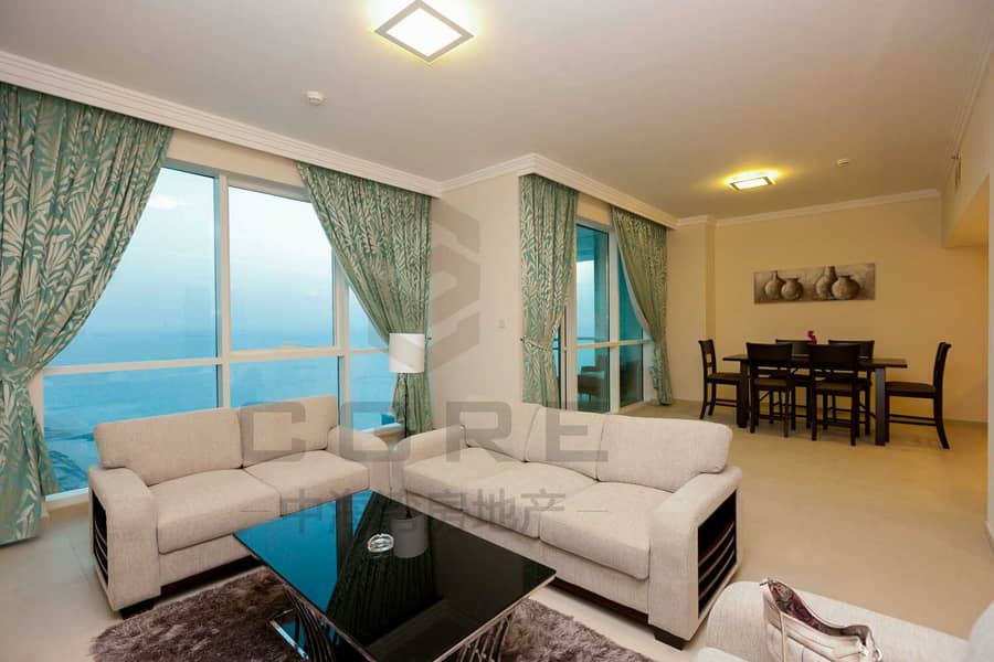 Beautiful 2BR+maid | Sea View | JBR for Rent