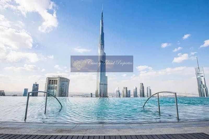 Burj Khalifa facing Penthouse for sale at Downtown.