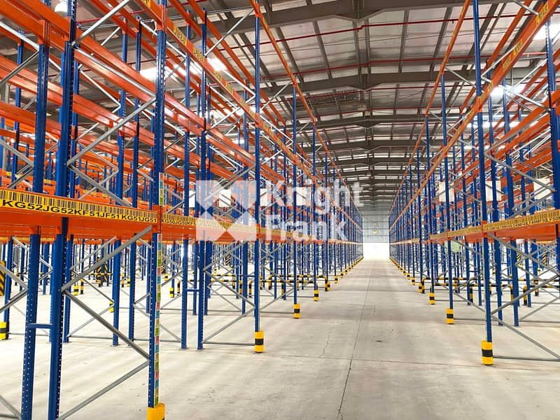 2 Double Deep Racking System   10m Eaves Height