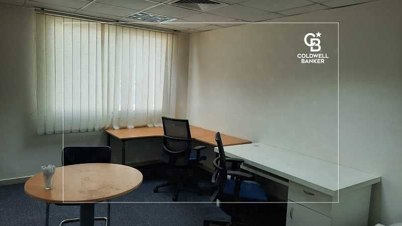 Office fitted  Prime Location   Sheikh Zayed Road