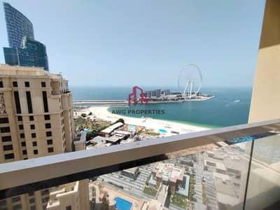 شقة فندقية 3 غرف نوم للايجار في جميرا بيتش ريزيدنس، دبي - Full sea-view ! all bills included! furnished! access to all amenities!