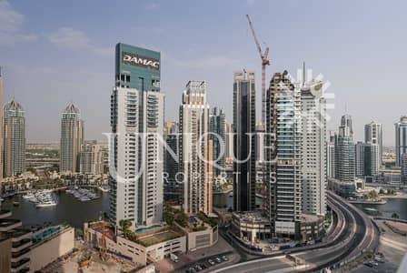 استوديو  للايجار في دبي مارينا، دبي - Furnished Studio | High Floor with Sea View