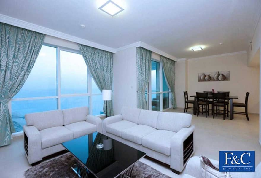 Large Unit | 2BR+Maids | High Floor | Sea View