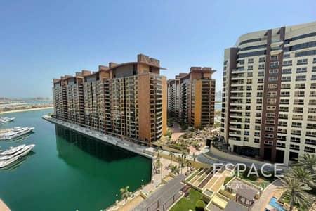فلیٹ 2 غرفة نوم للايجار في نخلة جميرا، دبي - 19th Sept | Unfurnished 2BR | Water Sunset View