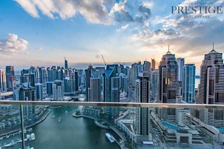3 Bedroom Flat for Sale in Dubai Marina, Dubai - VOT | Full Marina View | 3 Beds + Maid