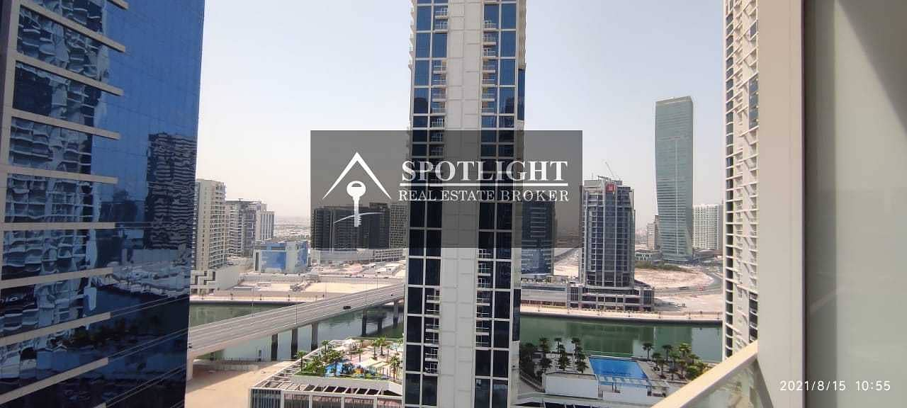 Gas free   Brand new building   Fully Furnished   Studio   Canal view   for rent   Marquis Tower   multiple Cheques