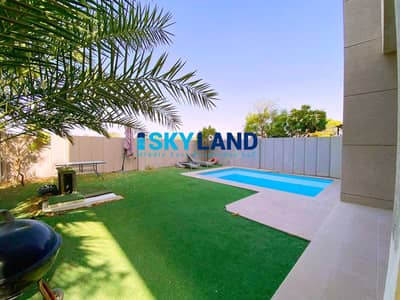 5 Bedroom Villa for Rent in Al Reef, Abu Dhabi - Single Row ! 5BR+M with Private Pool and Garden | EXCLUSIVE