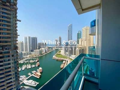 شقة 1 غرفة نوم للايجار في دبي مارينا، دبي - MARINA SEA VIEW | CHILLER INCLUDED | LARGE LAYOUT