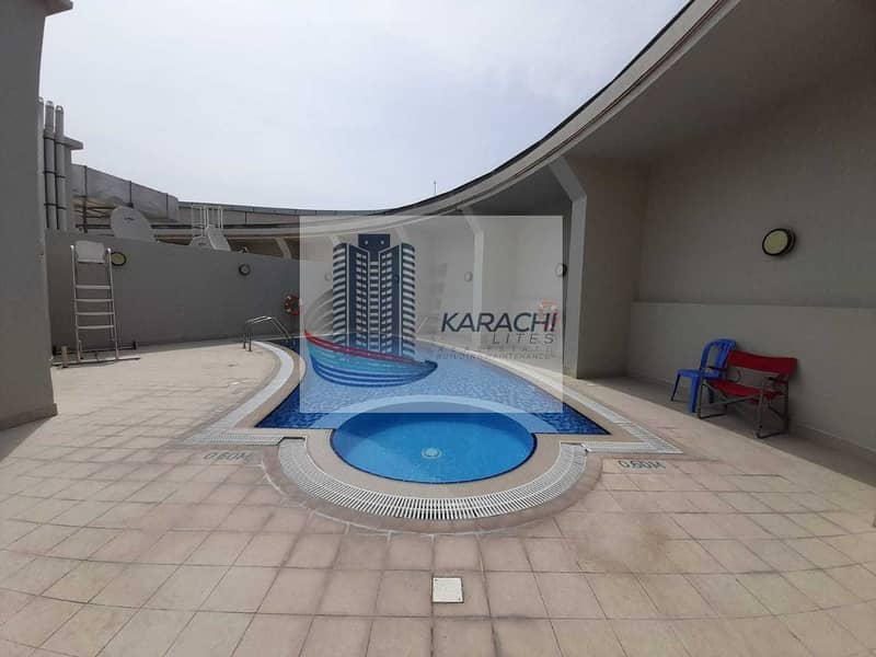 25 3 BEDROOMS APARTMENT WITH MAIDS ROOM INCLUDING ALL FACILITIES AL MUROOR