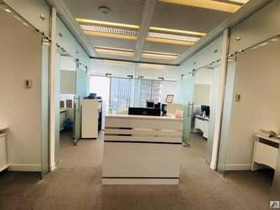 مکتب  للايجار في بر دبي، دبي - Amazing offer Fully Furnished Serviced office with 6 Smart Cabins and  separate  reception