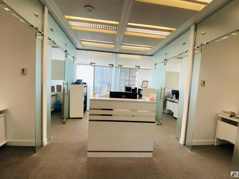 Amazing offer Fully Furnished Serviced office with 6 Smart Cabins and  separate  reception