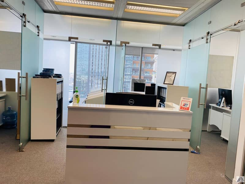 2 Amazing offer Fully Furnished Serviced office with 6 Smart Cabins and  separate  reception