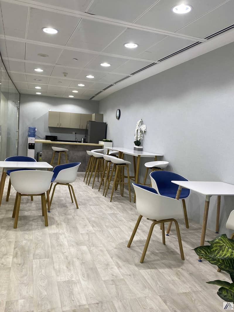 14 Amazing offer Fully Furnished Serviced office with 6 Smart Cabins and  separate  reception