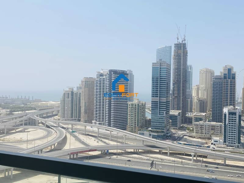 HIGH FLOOR SEA VIEW UNFURNISHED 1 BHK IN JLT