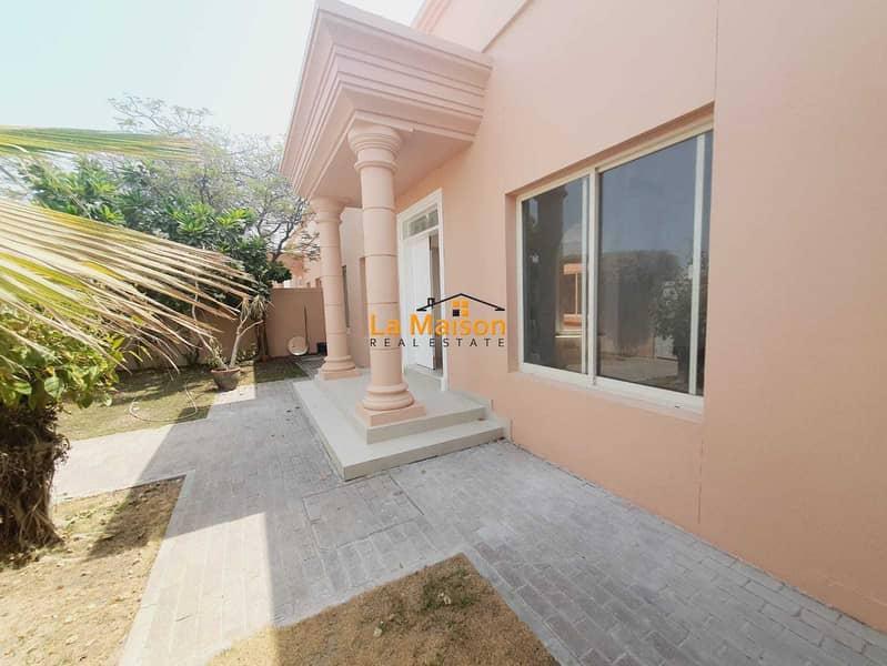 Reburnishing single story independent 3bhk with garden villa in umm suqeim 3 rent is 180k