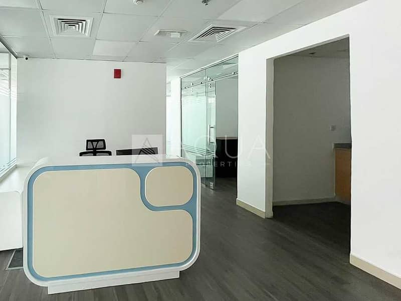2 Fitted Office w/ Furniture and Partition