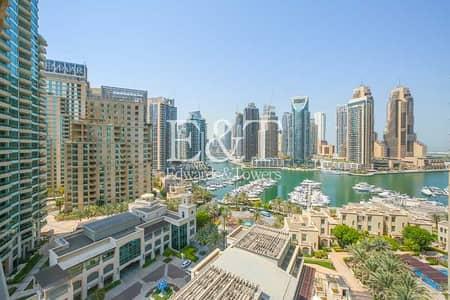 شقة 1 غرفة نوم للايجار في دبي مارينا، دبي - Full Marina View|Spacious 1+Study|Huge Balcony