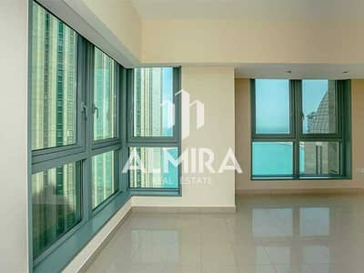 3 Bedroom Flat for Rent in Al Markaziya, Abu Dhabi - High Floor I Sea View 3BR w/ huge balcony