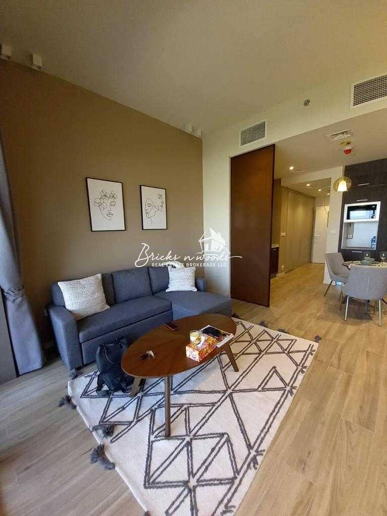 Elegant Studio Apartment with Garden View