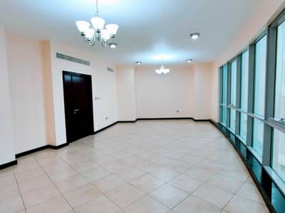 3 Bedroom Apartment for Rent in Corniche Al Buhaira, Sharjah - Limited Offer   Chiller AC/Month Free   All Master 3BR Flat   TV Lounge/Maids/Balcony/Wardrobes   Majaz 3