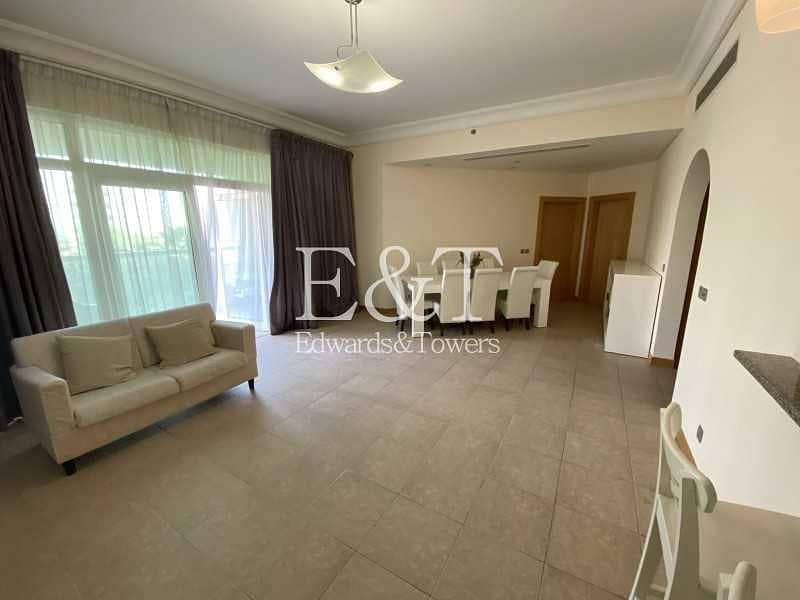 Vacant 2 BR | Furnished | Large Balcony|