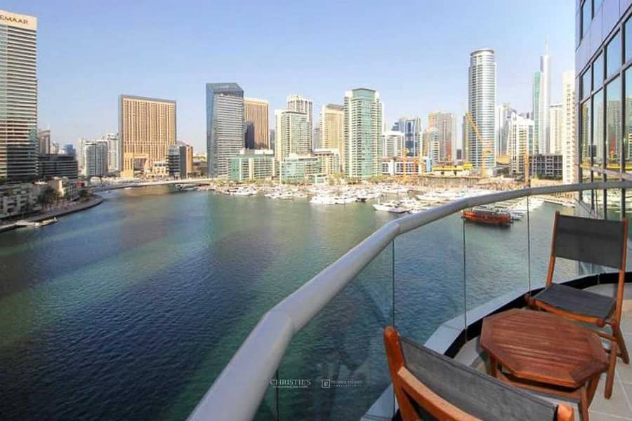 Must View Furnished 1bed with Full Marina View