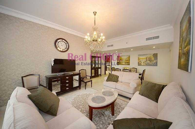Beautifully Furnished 2BR Balcony with Lake View