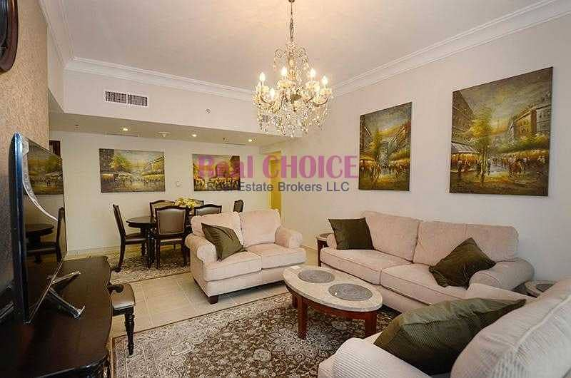 2 Beautifully Furnished 2BR Balcony with Lake View