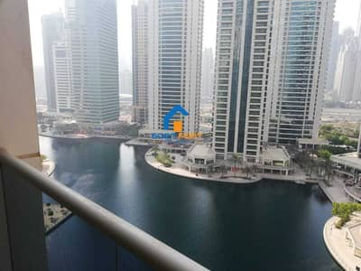 2 Bedroom Apartment for Rent in Jumeirah Lake Towers (JLT), Dubai - 2 BHK + Maid | Lake View | Mid Floor | Balcony