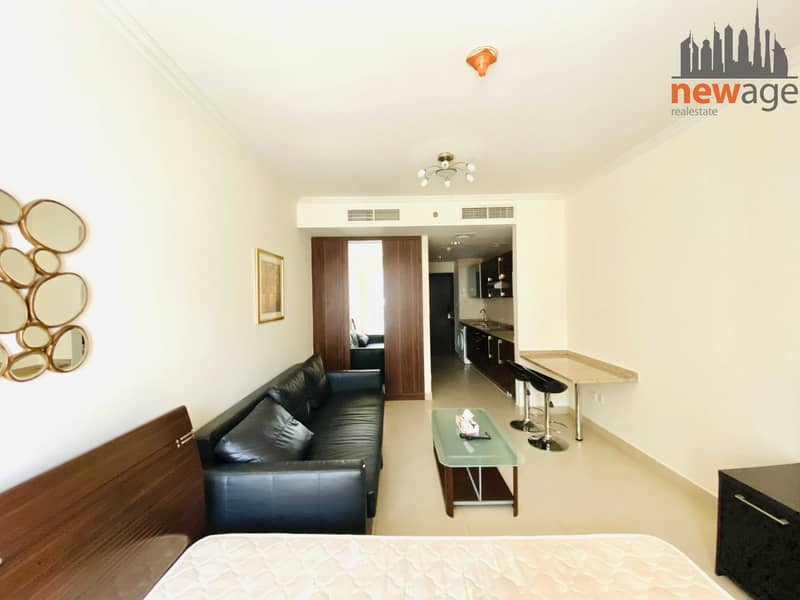 Lake View Furnished Studio For Rent In Goldcrest Executive JLT