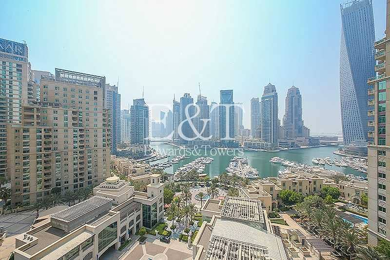 Exclusive: Full Marina View Unfurnished 2 parking