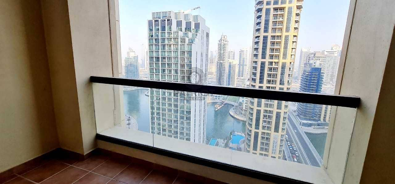 12 Full Marina View| Spacious 1 Bed plus 2 Balcony For Rent |Just listed