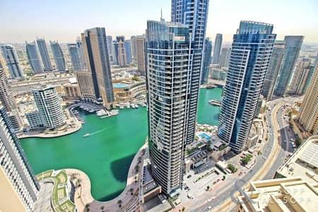 3 Bedroom Flat for Rent in Jumeirah Beach Residence (JBR), Dubai - Duplex Loft | Three Bedrooms | Marina View