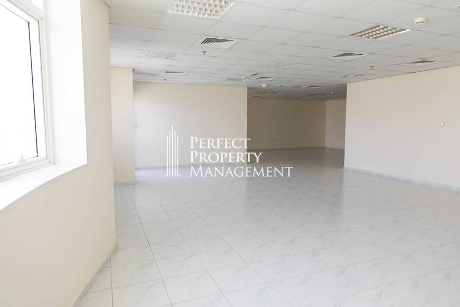 Big unfurnished Office in RAK Tower with balcony