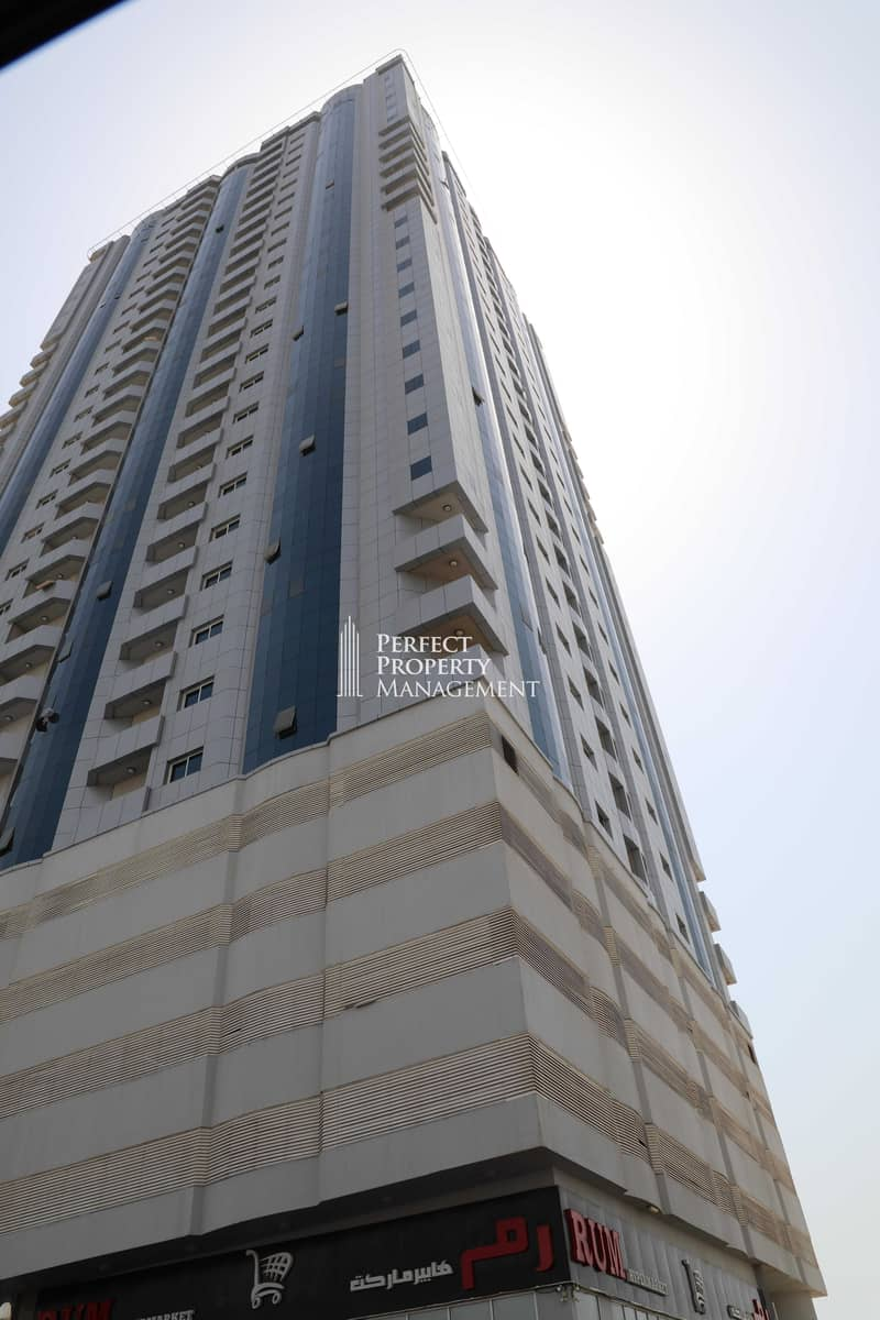 11 Big unfurnished Office in RAK Tower with balcony