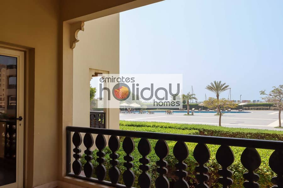 Fully Furnished with Pool Views and Large Balcony