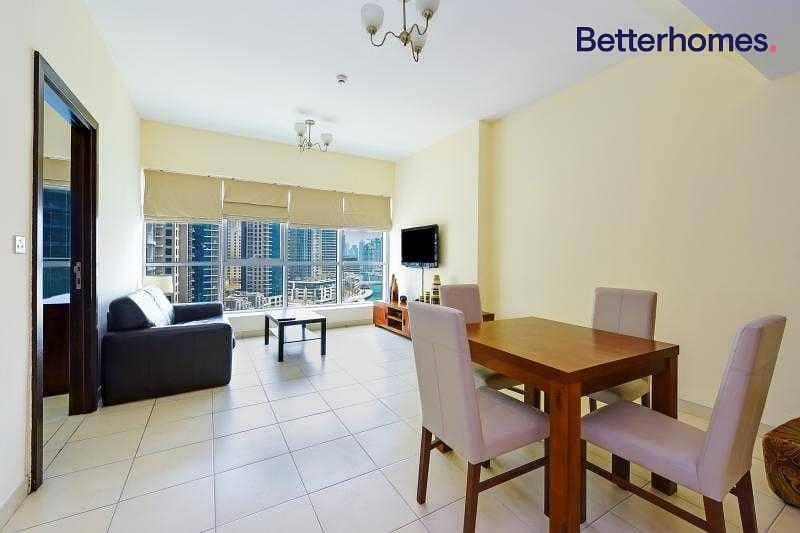 2 Vibrant| Furnished| Marina View| With Balcony|