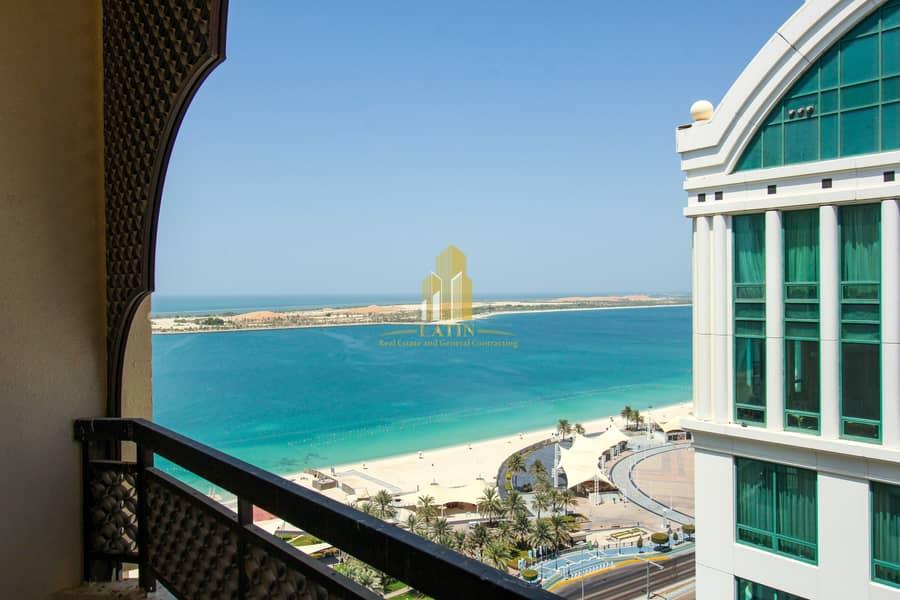 Full Sea View !   4 Bedrooms apartment with Maid or store room !   Spacious spaces.