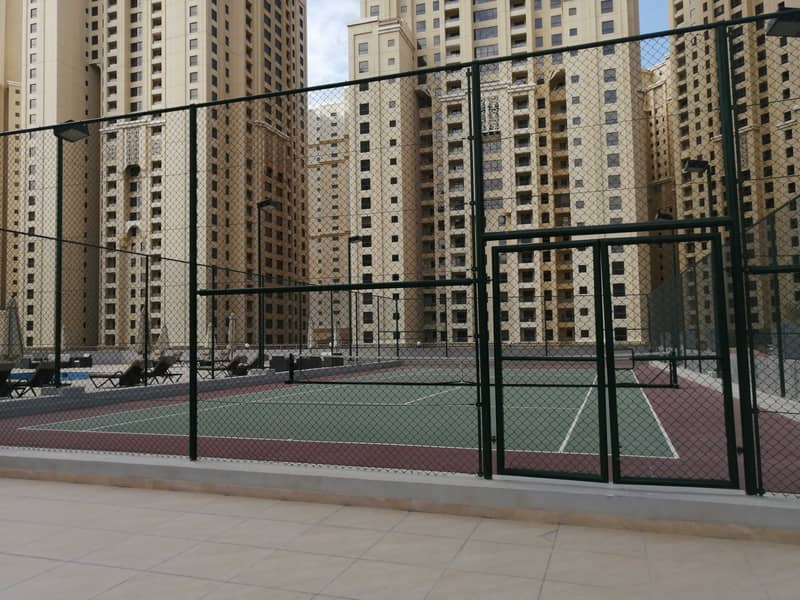 Marina , Tennis court , 3 b/r with chiller free , 4 cheques , balcony , marina view