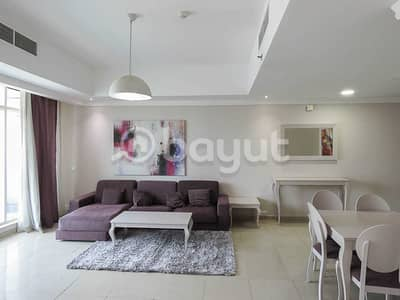 3 Bedroom Flat for Rent in Al Khan, Sharjah - 3 BHK+MAID ROOM AED: 68,000/-|2 MONTHS FREE|CHILLER AC BILL FREE|