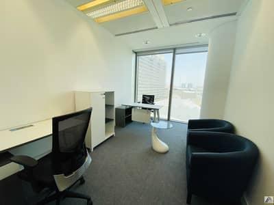 مکتب  للايجار في بر دبي، دبي - HOT OFFER   One  payment   Fully Furnished Serviced office    Free Dewa and Chiller   linked with Metro  and Mall