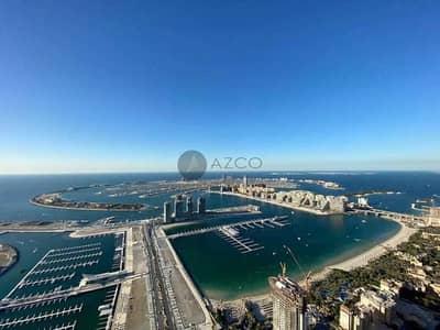 فلیٹ 3 غرف نوم للبيع في دبي مارينا، دبي - غير مفروش l الطابق العلوي l مطلة على البحر