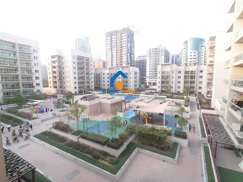 Nice & Huge   1 BHK   Al Dhafrah 1  Pool View   Greens
