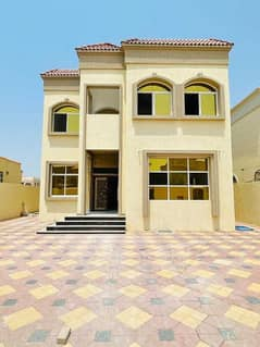Own a luxury villa in Ajman, Al Mowaihat 1 area, with high-quality finishing, with a modern design, and freehold ownership for all nationalities