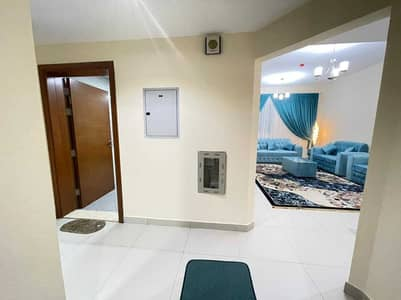 1 Bedroom Flat for Rent in Liwara 1, Ajman - For rent in Ajman, an apartment, a room and a hall with a balcony, with 2 bathrooms, the first inhabitant, furnished, new furniture, in New Balyawara,