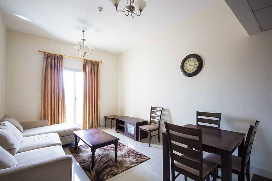 Golf course facing 1BR Fully Furnished