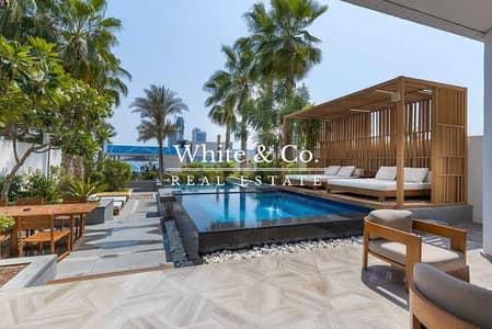 تاون هاوس 3 غرف نوم للبيع في نخلة جميرا، دبي - Serviced Beachfront Duplex Townhouse | Pool | Maid
