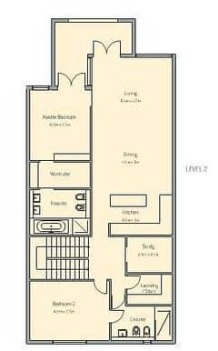 3 Bedroom Apt E Building Type 1 Level 2