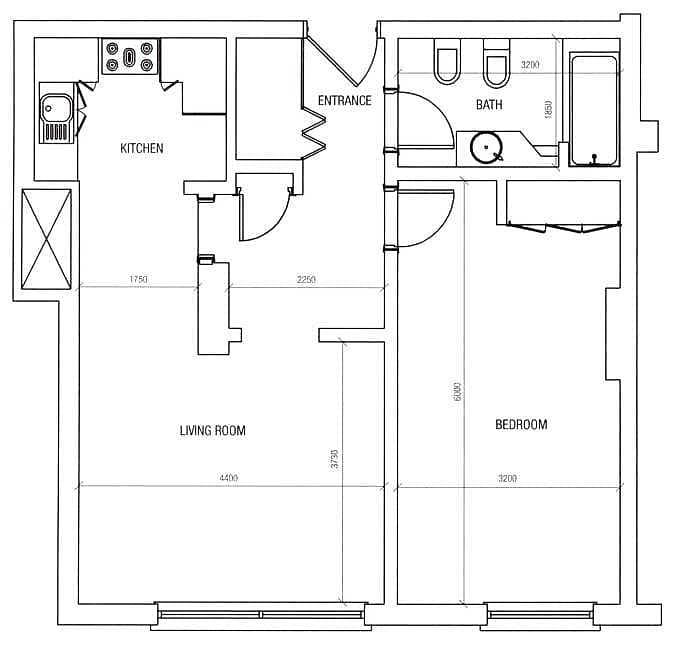 12 J Type | Actual Price | 1 Bedroom | Rented